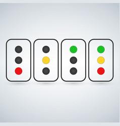 Traffic light set or light indicators traffic vector