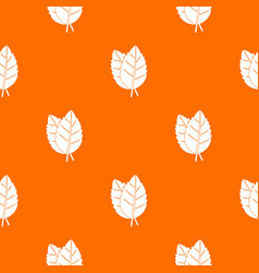 two basil leaves pattern seamless vector image