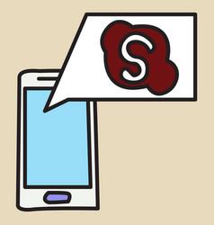 Unusual look skype logo vector