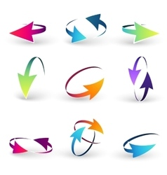 Volume set of cursors graphics vector image