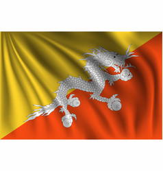 Waving bhutan vector