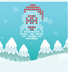 Winter snowflake santa blue background imag vector