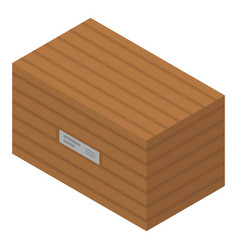 wood delivery box icon isometric style vector image