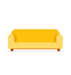 yellow sofa vector image