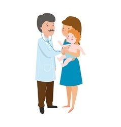Young mother and doctor vector image