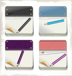 Calendar and pencil set vector image