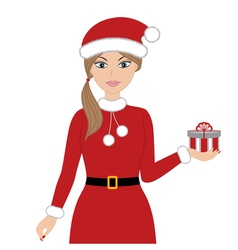 Christmas Woman vector image vector image