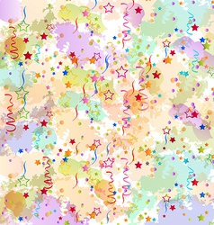 Confetti holiday background grunge colorful vector image