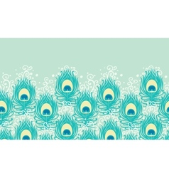 Peacock feathers horizontal seamless pattern vector image vector image