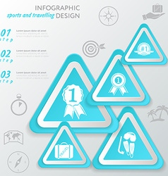 Template sport infographic icon and steps vector image