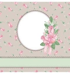 Vintage floral invitationcardWatercolor rose vector image vector image