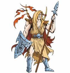 warrior knight vector image vector image