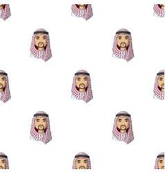arabhuman race single icon in cartoon style vector image vector image