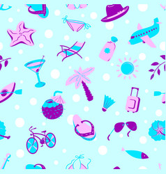 background with summer and beach objects beach vector image vector image