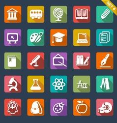 Education icon set- flat design vector image vector image