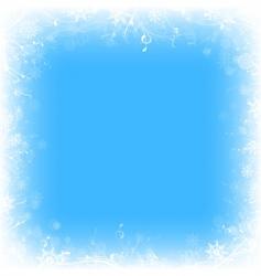 frozen window vector image vector image