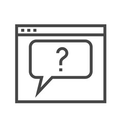 web page with question mark vector image