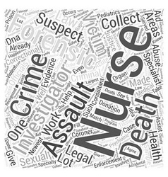 What is forensic nursing word cloud concept vector