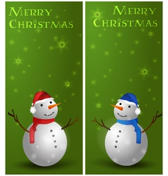 Banners with snowman vector image
