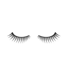 black two eyelashes extension icon on white vector image