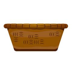 empty wooden basket vector image