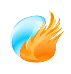 fire water symbol vector image vector image