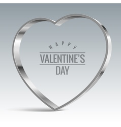 Heart sign Shiny metal vector image
