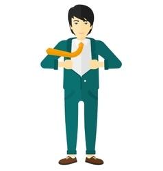Man taking off jacket vector