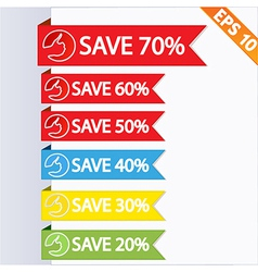 Paper tag label ribbon - - EPS10 vector image vector image