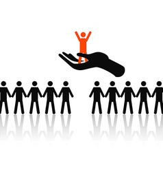 selecting the best job candidate vector image vector image