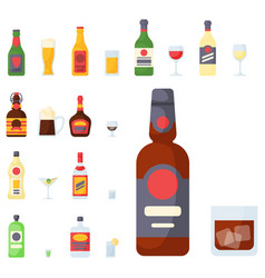 alcohol drinks beverages cocktail bottle lager vector image vector image