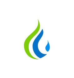 droplet bio ecology water logo vector image vector image