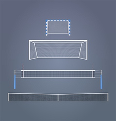 Sports gates and nets vector image vector image