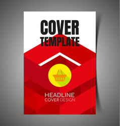 abstract report cover7 vector image