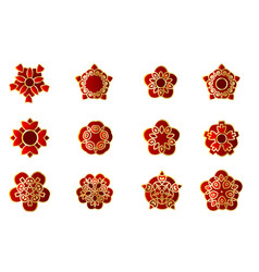 asian china japan eastern flower set vector image