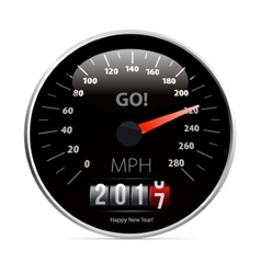 Calendar 2017 in speedometer car vector