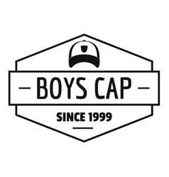 cap logo simple black style vector image
