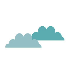 Cloudscape sky clouds fluffy cumulus atmosphere vector