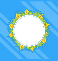 Collection of frame spring style vector