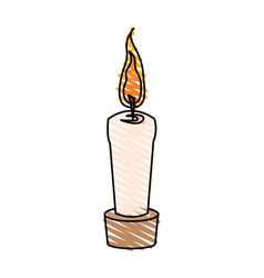 color crayon stripe cartoon decorative candle spa vector image