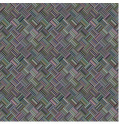colorful repeating diagonal striped square mosaic vector image