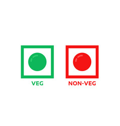 colorful veg and non-veg symbol vector image