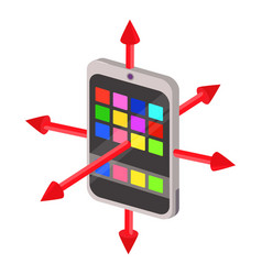 Colorimeter icon cartoon style vector