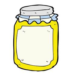 Comic cartoon jar of honey vector
