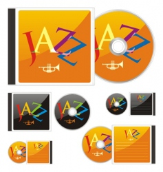 compact disks with jazz layout vector image