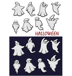 Cute Halloween ghosts vector