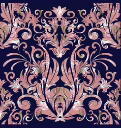 Damask seamless pattern floral baroque vector