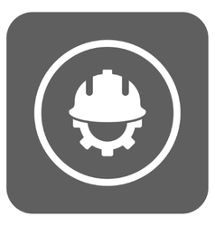 Development helmet flat squared icon vector