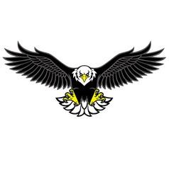 Eagle mascot spread wings vector
