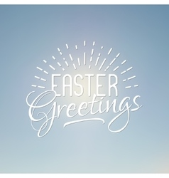Easter greetings sign Easter wish overlay vector image